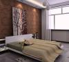 深色的壁纸大气沉稳,压住了整个居室空间的色调,曲线的吊灯使整个空间灵动轻盈,别具一格。