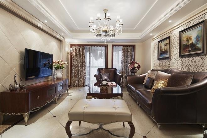 鸿园 四居 混搭 客厅图片来自沪上名家装饰在精致混搭-鸿园的分享