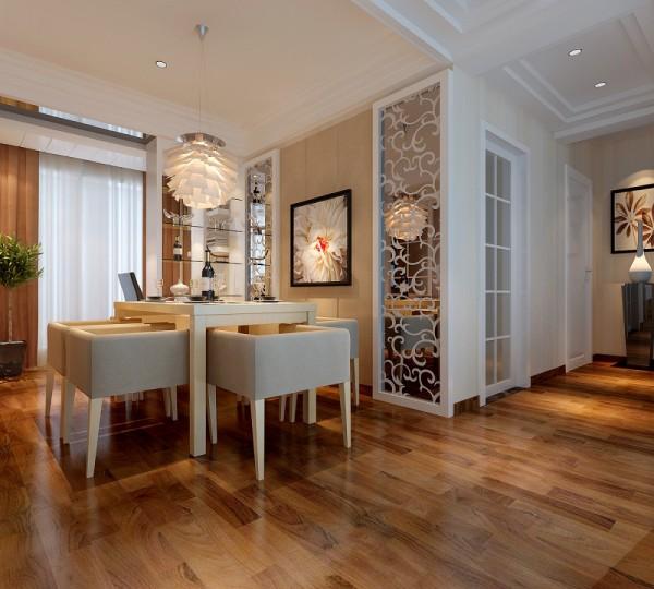 餐厅背景墙的设计花了不少设计师的心思,最终呈现的效果比业主想象的还要好。