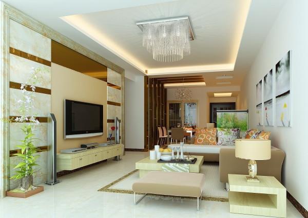 现代舒适感温馨客厅