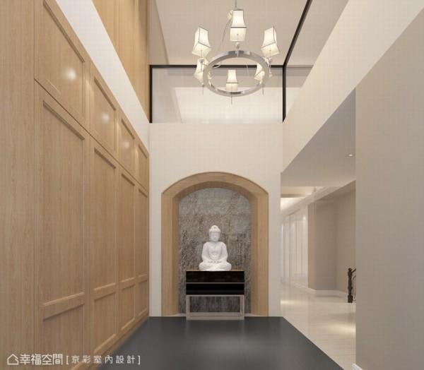 毛胚屋即合作的别墅空间,除了要安排入电梯机能外,挑高与开放感的创造是京彩设计于此案的设计重点。(此为3D合成示意图)