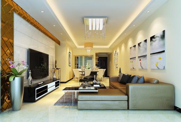 简洁大气现代感客厅