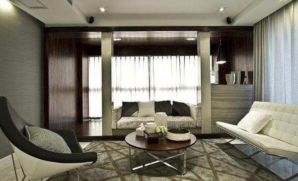 客厅整体偏港式风格