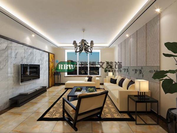 一张客厅整体效果图。