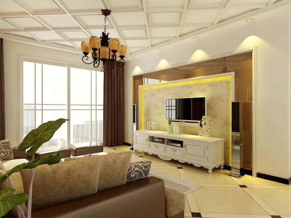 客厅要实用,就必须根据自己的需要,进行合理的功能分区。如果家人看电视的时间非常多,那么就可以视听柜为客厅中心,来确定沙发的位置和走向。