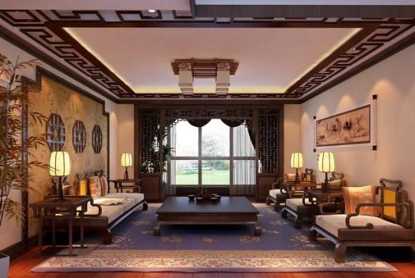 客厅的墙面没有进行过多的处理,沙发背景墙做出一个大造型。客厅三把椅子一个茶几沙发,摆放工整,淳朴沉稳油然而生。客厅与阳台的隔断选用的是胡桃木镂空门,不会影响采光。