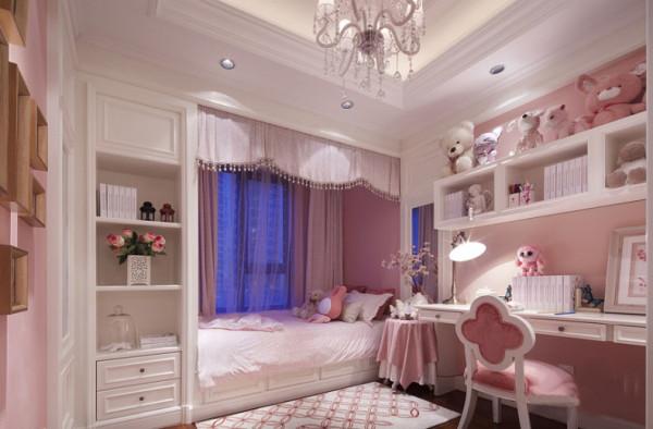 可爱的女儿房,粉色与白色的结合,温馨可爱,给她一个童话的梦境。