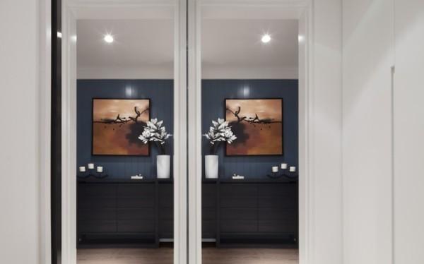客厅活泼的果绿色,使整个空间瞬间充满盎然与生命之感。