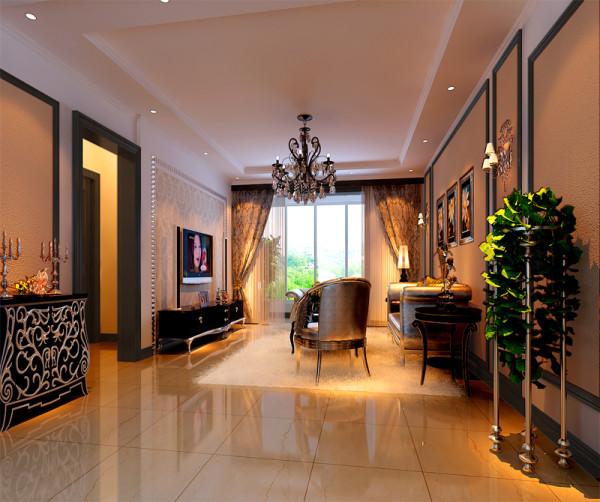 客餐厅在布局上用现代手法演绎古典韵味,在陈设配饰上以传统风格和现代实用为依托,在色彩上通过家私饰品等的对比来表现细节,使空间不显得沉闷单调。