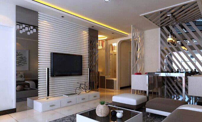 简约 三居 客厅图片来自郑州实创装饰-杨淑平在中豪汇景湾128平效果图集的分享