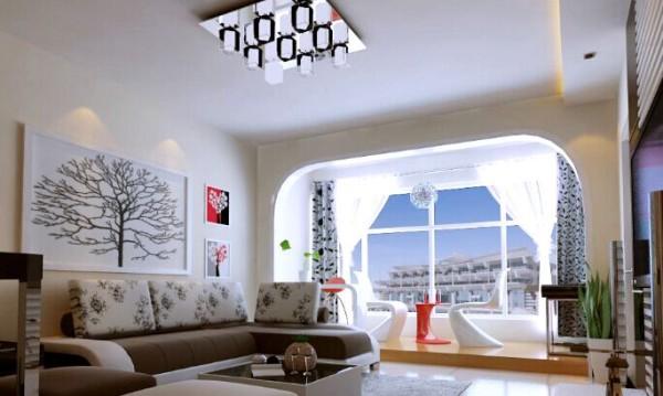 门厅的圆形吊顶使之天圆地方,再加上梯形的鞋柜更让门厅增添亮点。
