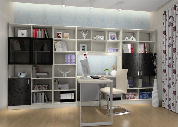 书房布置一般需保持相对的独立性,其设计布置原则,特别是对于一些从事专业工作者如美术、音乐、写作、设计等人士,应该以最大程度方便其进行工作为出发点。