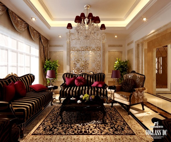 欧式新古典之客厅