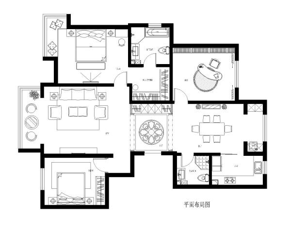 平面家具 布置图