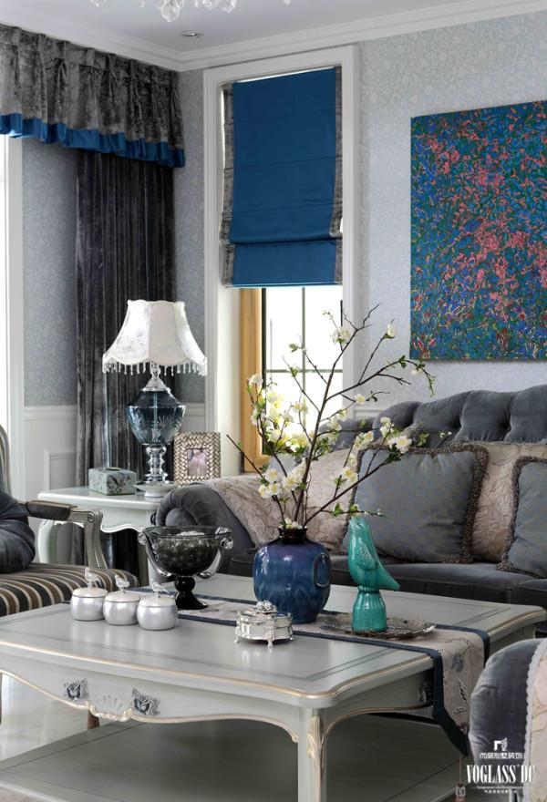 保利西山林语软装配饰设计之客厅一角