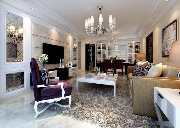 本案例为蓝鼎海棠湾欧式风格装修设计。设计师贾露,新房为婚房作用,设计的比较温馨浪漫。