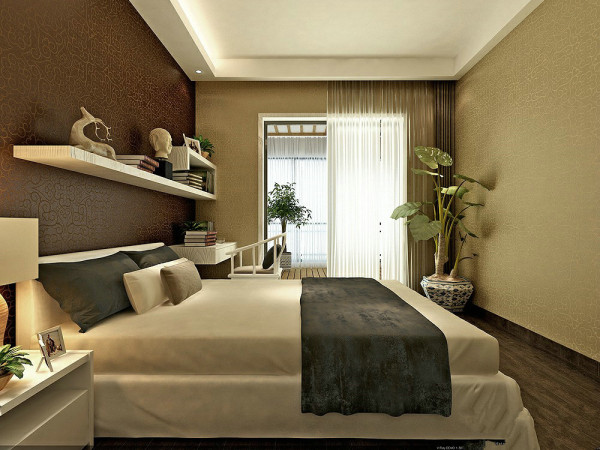 用一些富含中国元素的配饰突出古典与现代的结合。