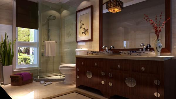 简约中式别墅卫生间图片