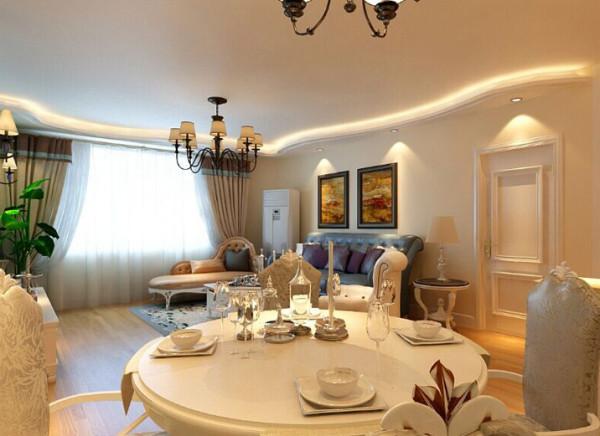 设计理念:餐厅中飘进海的味道。明亮的空间,简洁的餐具,轻松快乐的圆桌聚会,不只是风格设计更是一种生活方式。