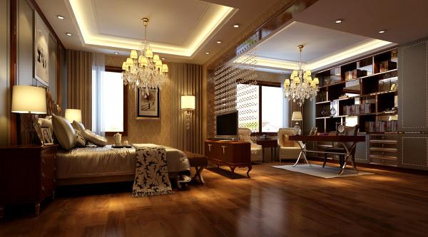 卧室设计: 透过质感温润的木地板铺贴,让空间回归唇彩的舒适与安定。
