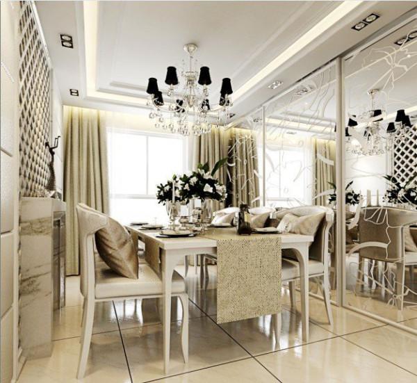 餐厅设计融合中西式的优点,美观且实用