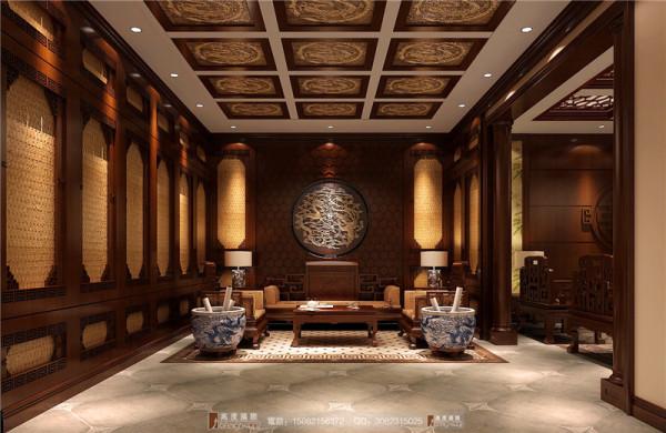 万科五龙山地下茶室细节效果图-成都高度国际装饰