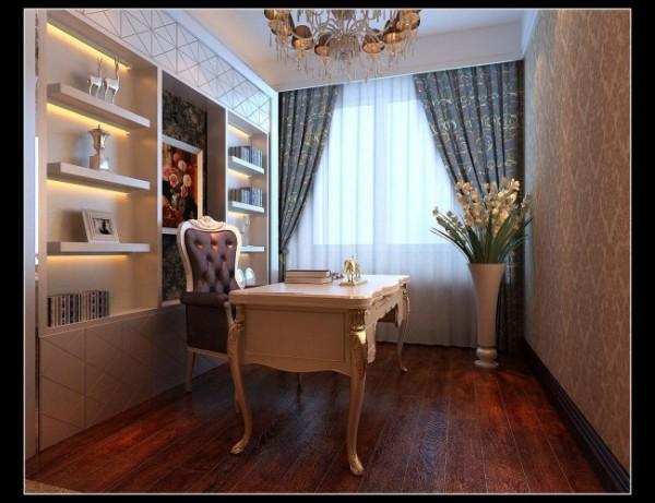 硬朗的直线书柜,精雕细琢的桌椅,人文气息跃然纸上。