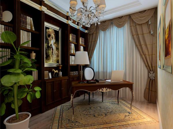 风格为搭配业主现有的欧式家具而定为欧式。 设计理念:设计师采用主富贵金,咖色辅助,点缀黑色的色彩搭配使空间既层次分明,宽敞又不失 华贵。