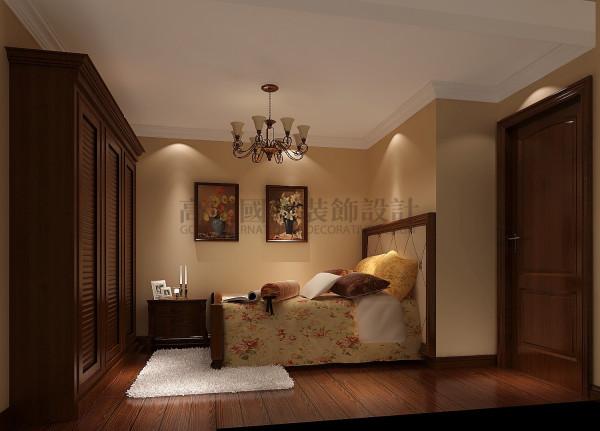天悦府——美式复古风格 成都高度国际装饰 卧室