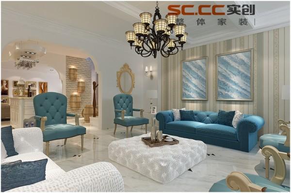 客厅2 整套设计流露出主人不喜束缚的个性和雅致的生活品味。室内全部选用了简欧风格的布艺沙发,舒适而有气质。