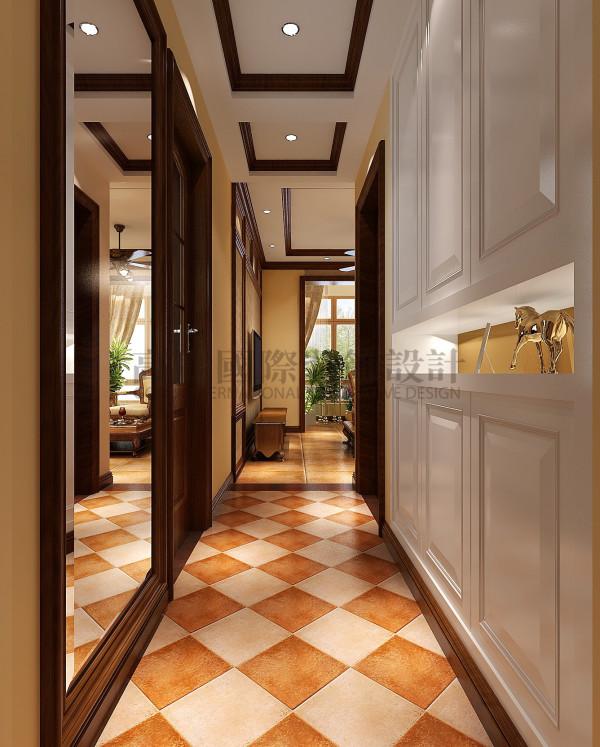 天悦府——美式复古风格 成都高度国际装饰 玄关