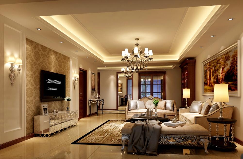 欧式 白领 80后 客厅图片来自朗润装饰工程有限公司在天悦府167㎡欧式风格效果图的分享