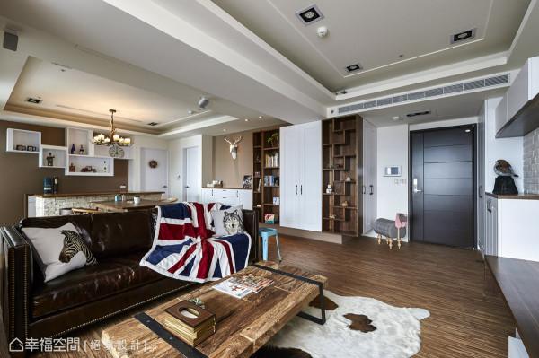 古着风的家具与配件,点出复古时尚的精神。