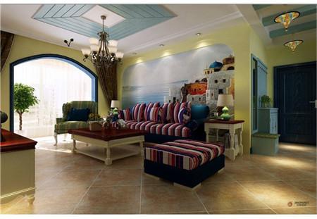 三居旧房改造80后白领今朝装饰老房装修新房装修设计客厅装修效果图高清图片