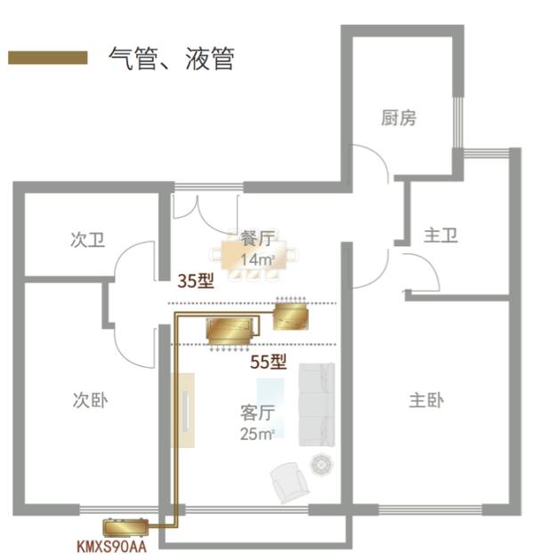 房型案例参考空调安装位置布局