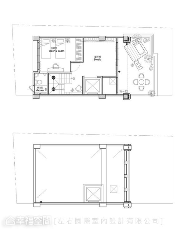 4F&屋顶平面图