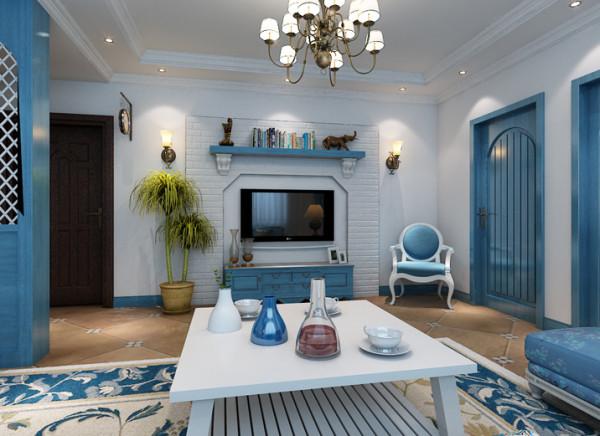 门厅是停留最短的空间,但是一个必不可少的区域也是一个展示的空间。 亮点:门厅采用一组蓝色通透鞋柜,隐隐约约透露出沙发与照片。