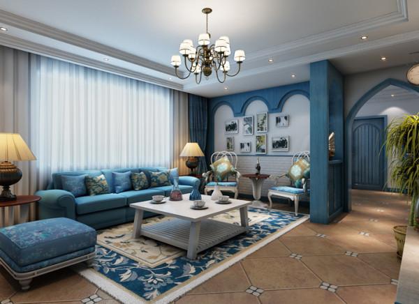 客厅是主人品味的象征,体现主人品格、地位也是交友娱乐的场合客厅的主要亮点是电视背景、照片墙。电视背景采用文化石刷白,配上顶部造型顶与石膏线,突出照片墙的个性