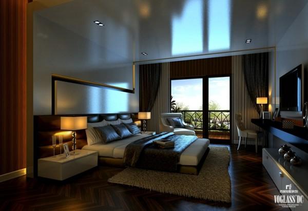 老人房的设计,沉稳,舒适是设计师的设计定位。为了迎合长者的心理需求,窗帘及床品采用了暗色,营造一个安静宜人的养心环境。