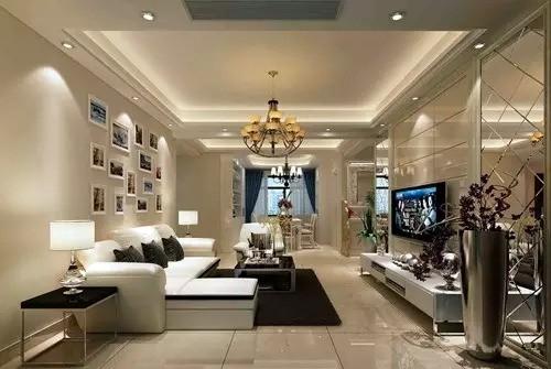 厅 客厅以米色、咖啡色为主色调,深色为辅,深浅对比增强了空间的视觉拉伸感,主人的品位和喜好完全体现在客厅中