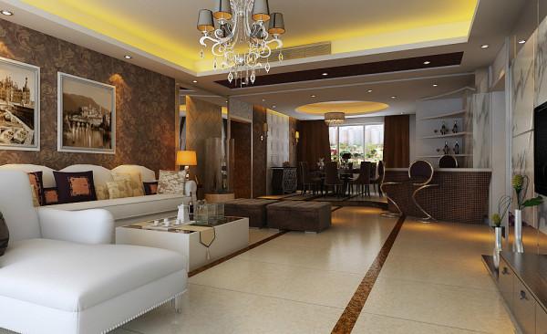 开放式的客厅、餐厅以及厨房,凸显空间的通透感,玻璃材质的结合洋溢着时尚现代的气息