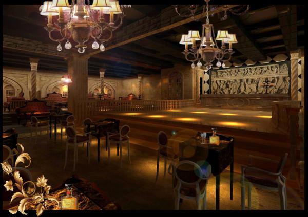 酒吧舞台效果图
