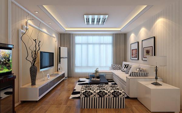 本方案为现代简约风格,全房选用比较淡雅的壁纸来装点墙面效果,通过顶面吊顶的分区效果,把客餐厅的空间区分开来,整体造型比较简洁,通过后期的软装设计提升了整体装修的品质。简约但不简单。