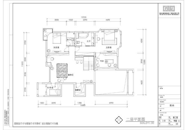 天鹅湾别墅二层平面布置图展示