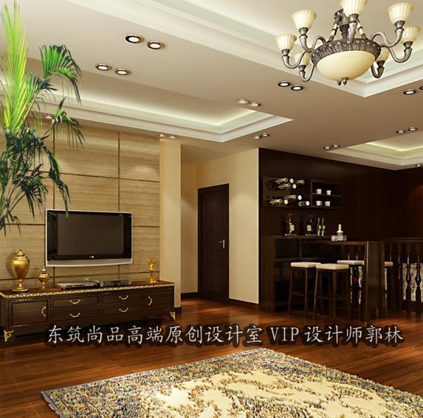 天鹅湾别墅二层客厅效果图展示