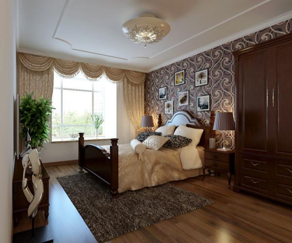理想城三居室户型卧室效果图