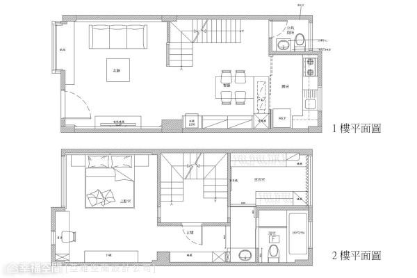 1-2楼平面图
