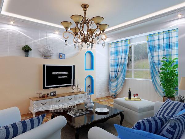 【今朝装饰www.xajzzs.cn】:西安早安林莊-143平三居室--地中海风格(本小区装修设计41套)