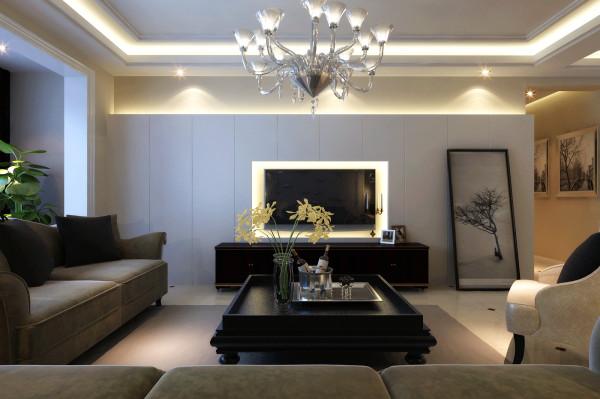 本方案是130平三室公寓设计方案,充满了现代的时尚设计感。都市感的背景墙现代时尚,简洁的布艺沙发搭配空间色调,使得客厅简单利落,有种高大上的感觉~~