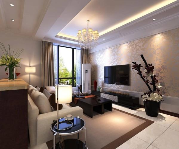 客厅宽大的落地格子窗户,让整个客厅的光线都十分的充足!同时,整个客厅看上去简洁明了,米白色的转角布艺沙发、充满个性的沙发背景墙,让客厅功能与美观皆有。